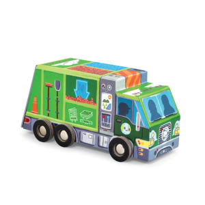 crocodile creek recycletruck puzzel