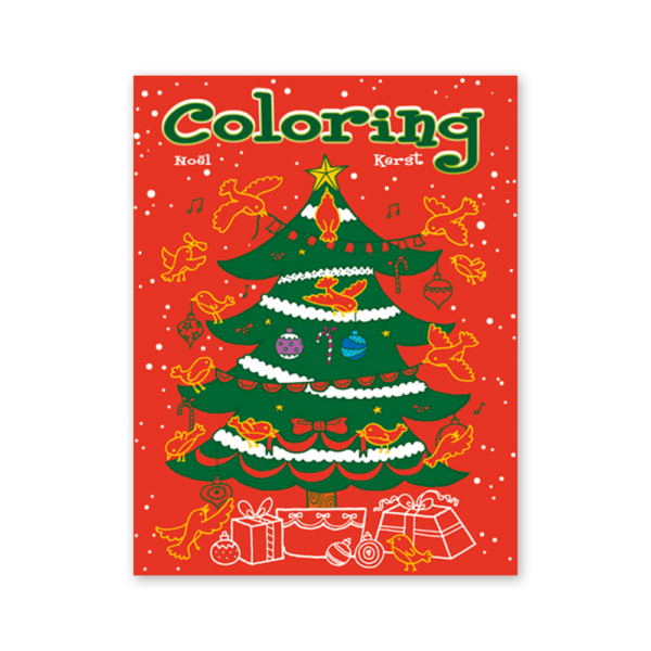 Kerst coloring kleurboek