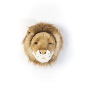 Dierenkop Leeuw Wild & Soft aan de muur kinderkamer babykamer aan de muur hip