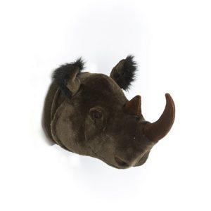 Dierenkop neushoorn Wild & Soft aan de muur kinderkamer babykamer aan de muur hip