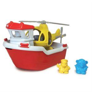 Reddingsboot en Helikopter Green Toys auto baby speelgoed