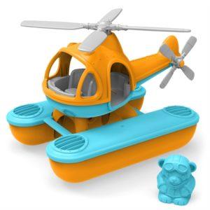 Zeehelikopter oranje Green Toys auto baby speelgoed
