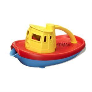 Sleepboot Geel Green Toys baby speelgoed verkleden