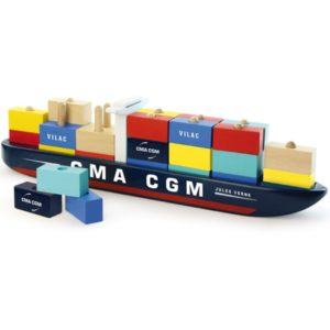 Container Boot 2315 Vilac Frans merk hout speelgoed kinderen bouwen