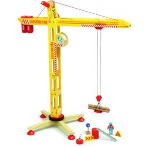 Grote Hijskraan 2343 Franse merk Vilac houten speelgoed