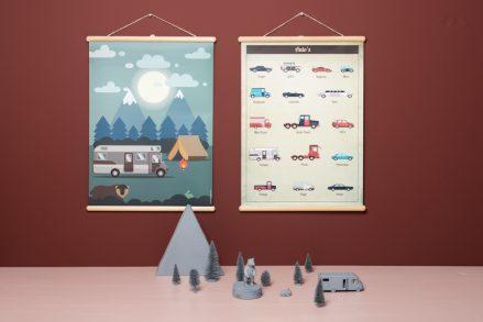 Wandplaat Auto's decoratie kinderkamer babykamer