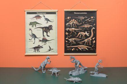 Wandplaat Dino decoratie kinderkamer babykamer