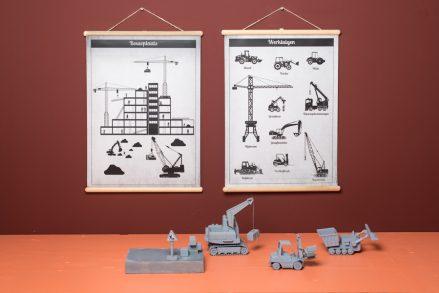 Wandplaat Werktuigen decoratie kinderkamer babykamer