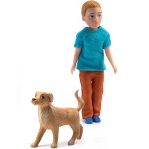 Poppenhuis Xavier en Hond DJ07807 Mon Petit Home djeco