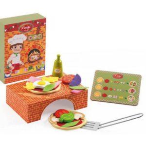 djeco wijs west wijswest online shoppen winkel amsterdam speelgoed Djeco DJ06538 Houten Speelgoed 3070900065383 Pizza Luigi