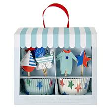 Baby shop blue cupcake kit Meri Meri