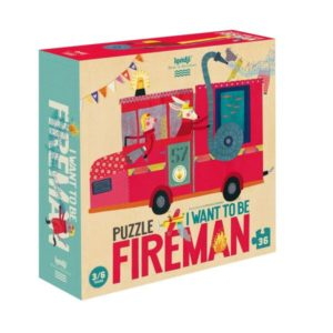 Puzzel I want to be... Fireman Londji