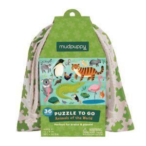 Puzzel To Go Animals Of The World Mudpuppy