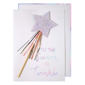Kaart Kerst Ster 420069 Star wand card Meri Meri