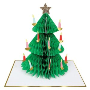 Kaart Kerst Honeycomb 420077 Christmas tree honeycomb card Meri Meri