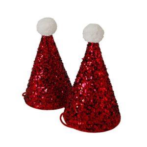 Mini Glitter Hoedjes Santa 452015 Mini glitter Santa hats Meri Meri