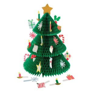 Advent Kalender Honeycom Kerstboom 453055 Honeycomb tree advent calendar Meri Meri