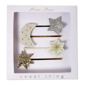 Haarspeldjes Maan & Sterren 50-0124 Moon and star hair slides Meri Meri
