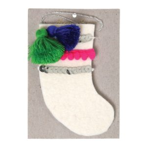 Kerstboom Deco Strik 600027 Stocking felt tree decoration