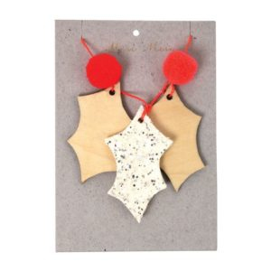 Kerstboom Deco Glitter 600036 Glittery holly tree decoration