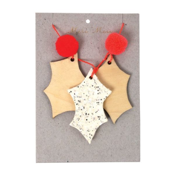 Kerstboom Deco Glitter 600036 Glittery holly tree decoration