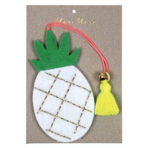 Kerstboom Deco Ananas 600049 Felt pineapple decoration Meri Meri