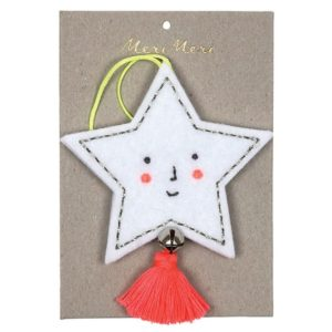 Kerstboom Deco Vilt Ster 600051 Felt star decoration Meri Meri