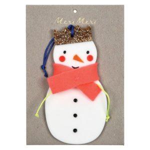 Kerstboom Deco Sneeuwpop 600054 Snowman decoration Meri Meri