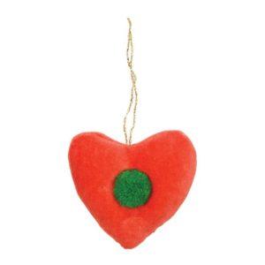 Kerstboom Deco Hart Ster 600056 Velvet heart decoration Meri Meri