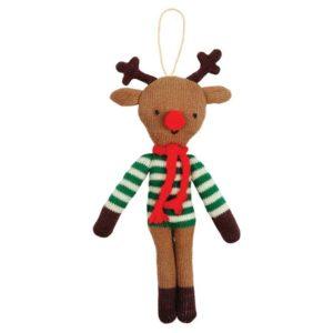 Kerstboom Deco Rendier Ster 600060 Knitted reindeer tree decoration Meri Meri
