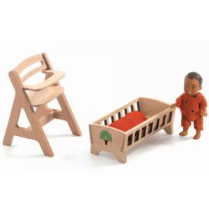 djeco wijs west wijswest online shoppen winkel amsterdam speelgoed Djeco DJ07815 Spelen 3070900078154 Baby Sweetie voor Poppenhuis