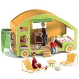 Djeco   Poppenhuis Caravan