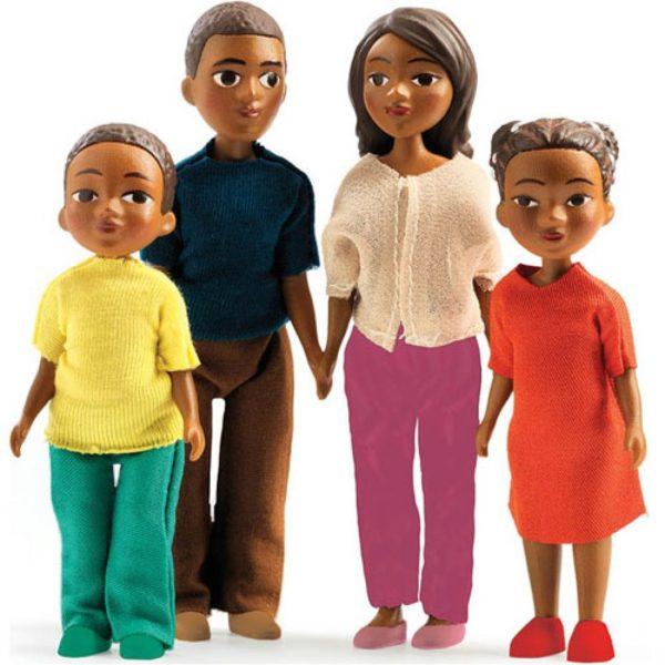 djeco wijs west wijswest online shoppen winkel amsterdam speelgoed Djeco DJ07813 Spelen 3070900078130 Familie Milo & Mila voor Poppenhuis