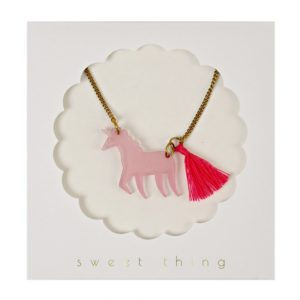 50-0002 Unicorn Necklace Ketting Eenhoorn Meri Meri