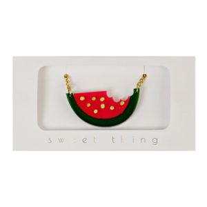 50-0005 Water melon Necklace Watermeloen ketting meri meri