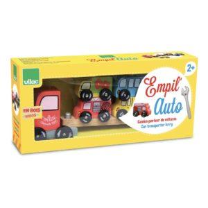 Houten Vrachtwagen Stapelspel Vilac houten speelgoed