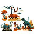 djeco wijs west wijswest online shoppen winkel amsterdam speelgoed Djeco DD05050 Knutselen 3070900050501 Raamstickers Dino's