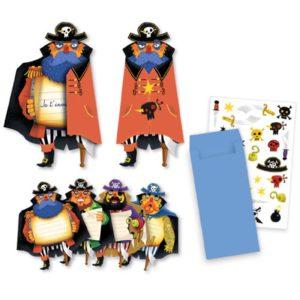 djeco wijs west wijswest online shoppen winkel amsterdam speelgoed Djeco DJ04784 Kaarten 3070900047846 Djeco Uitnodiging Piraten