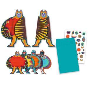 djeco wijs west wijswest online shoppen winkel amsterdam speelgoed Djeco DJ04785 Kaarten 3070900047853 Djeco Uitnodiging Superhelden