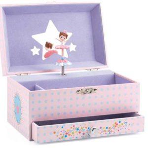 djeco wijs west wijswest online shoppen winkel amsterdam speelgoed Djeco Dj06597 Muziek 3070900065970 Muziek Sieradendoos - Ballerina