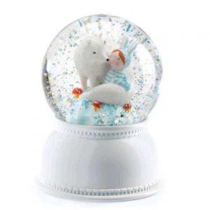 djeco wijs west wijswest online shoppen winkel amsterdam speelgoed Djeco DD03405 Knutselen 3070900034051 Nachtlampje Sneeuwglobe - Lila & Pupi