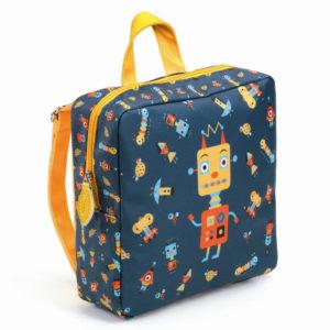 djeco wijs west wijswest online shoppen winkel amsterdam speelgoed Djeco DD00253 Accessoires 3070900002531 Djeco Rugzakje Robot
