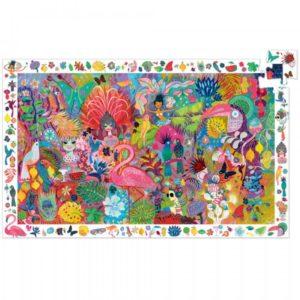 djeco wijs west wijswest online shoppen winkel amsterdam speelgoed Djeco DJ07452 Puzzels 3070900074521 Djeco Puzzel Carnaval Rio - 200 pcs