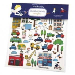 moulinroty wijs west wijswest online shoppen winkel amsterdam speelgoed Moulin Roty 713224 Knutselen 3575677132240 Overdrukplaatjes Voertuigen