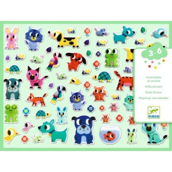 djeco wijs west wijswest online shoppen winkel amsterdam speelgoed Djeco DJ09079 Knutselen 3070900090798 Djeco Stickers Mes petits amis
