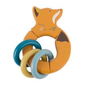 moulinroty wijs west wijswest online shoppen winkel amsterdam speelgoed Moulin Roty 714007 Babyspeelgoed 3575677140078 Moulin Roty Rammelaar Vos
