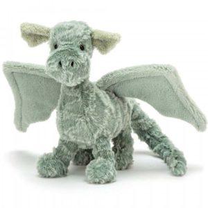 jelly cat wijs west wijswest online shoppen winkel amsterdam speelgoed Jellycat D3D Knuffels 670983113334 Jellycat Drake Dragon Little