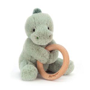 jelly cat wijs west wijswest online shoppen winkel amsterdam speelgoed Jellycat SHO4WD Knuffels 670983117271 Jellycat Shooshu Dino Wooden Ring Toy