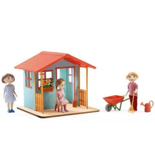 djeco wijs west wijswest online shoppen winkel amsterdam speelgoed Djeco DJ07835 Spelen 3070900078352 Djeco Poppenhuis Tuinhuis