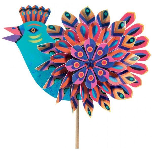 djeco wijs west wijswest online shoppen winkel amsterdam speelgoed Djeco DJ02042 Buitenspelen 3070900020429 Djeco Windmolen Paradise Bird